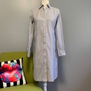 Brooks Brothers Striped Long Sleeve Shirt Dress
